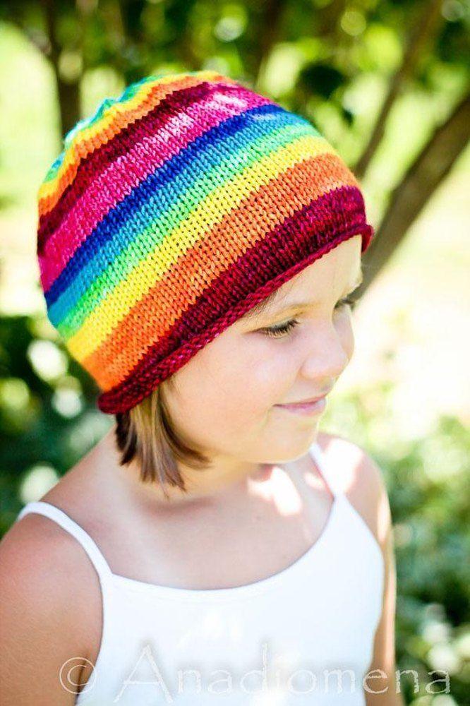 Simple Beanie Aka Lollipop Hat Knitting Pattern By Elena Nodel