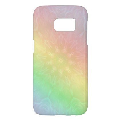 Marvelous Pretty Cool Pastel Rainbow Mandala Design Samsung Galaxy S7 Case   Trendy Gifts  Cool Gift Ideas