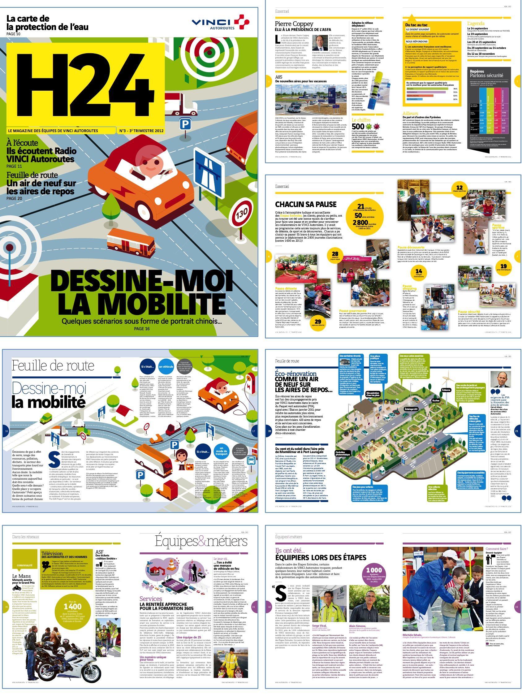 vinci autoroutes magazine interne trimestriel 40 pages r daction en chef d l gu e. Black Bedroom Furniture Sets. Home Design Ideas