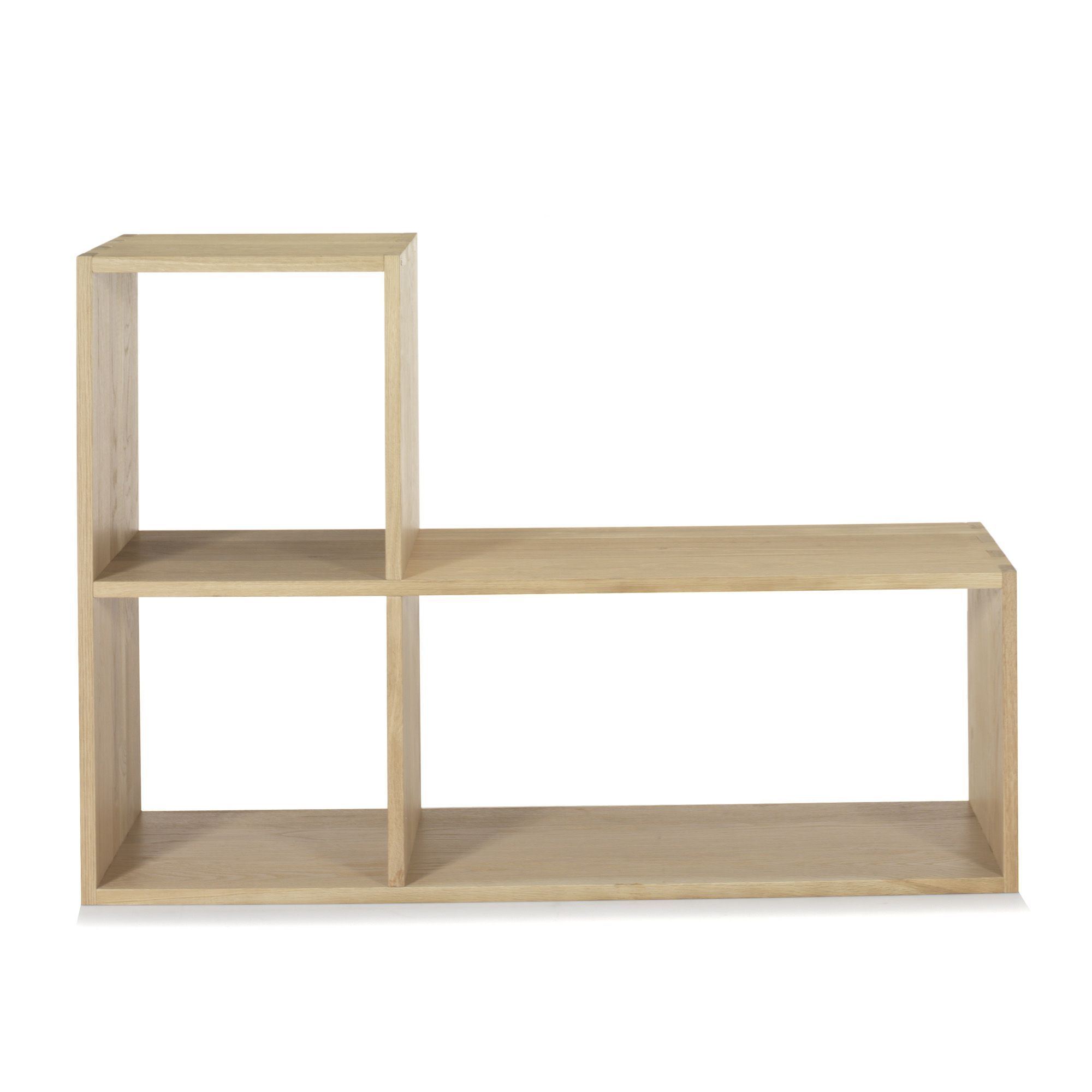 tassia tag re en l en ch ne tag res de salon chene massif et alin a. Black Bedroom Furniture Sets. Home Design Ideas