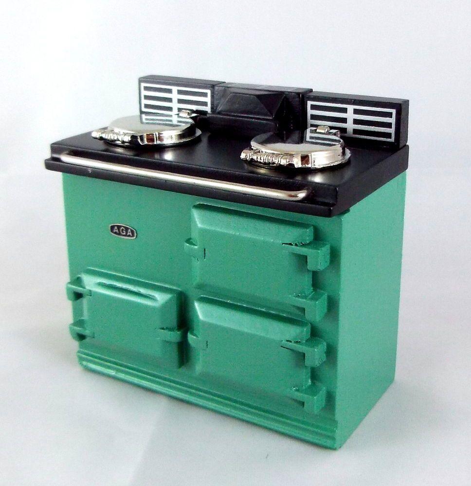 DOLLHOUSE Aga Stove 1.779//5 Reutter Kitchen Green Miniature