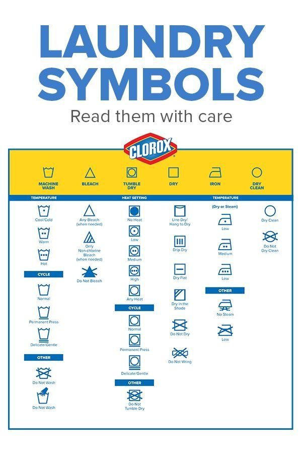 Read those labels with care! Check out the Clorox guide to de-coding those cryptic laundry label icons.