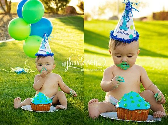 Outside Cake Smash Boy Cake Smash Jlanderson Photography Www