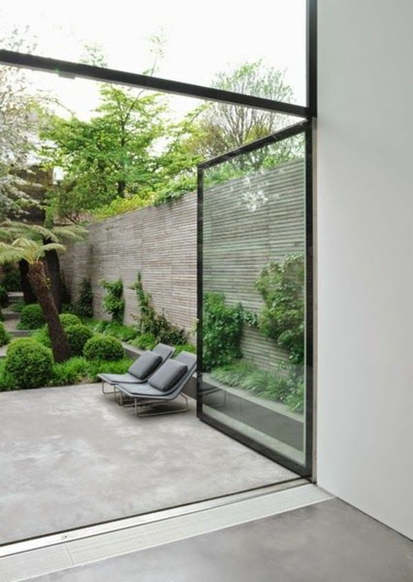 terrassembelag beton bambus sichtschutz Gartengestaltung Pinterest - japanischer garten bambus