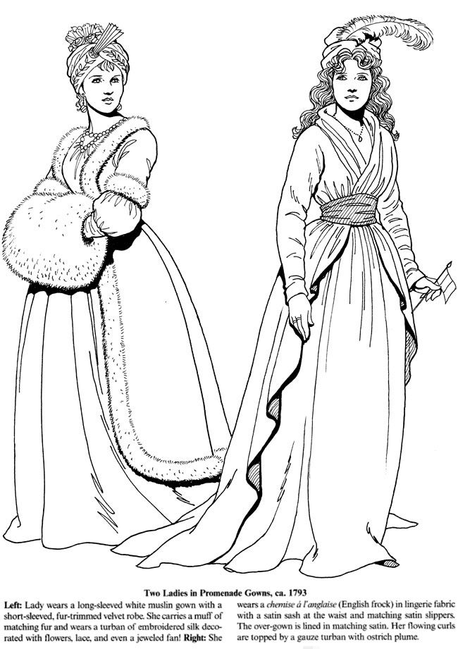 Welcome to Dover Publications | fashion coloring | Pinterest