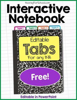Interactive Notebook Tabs Math Interactive Notebook Interactive