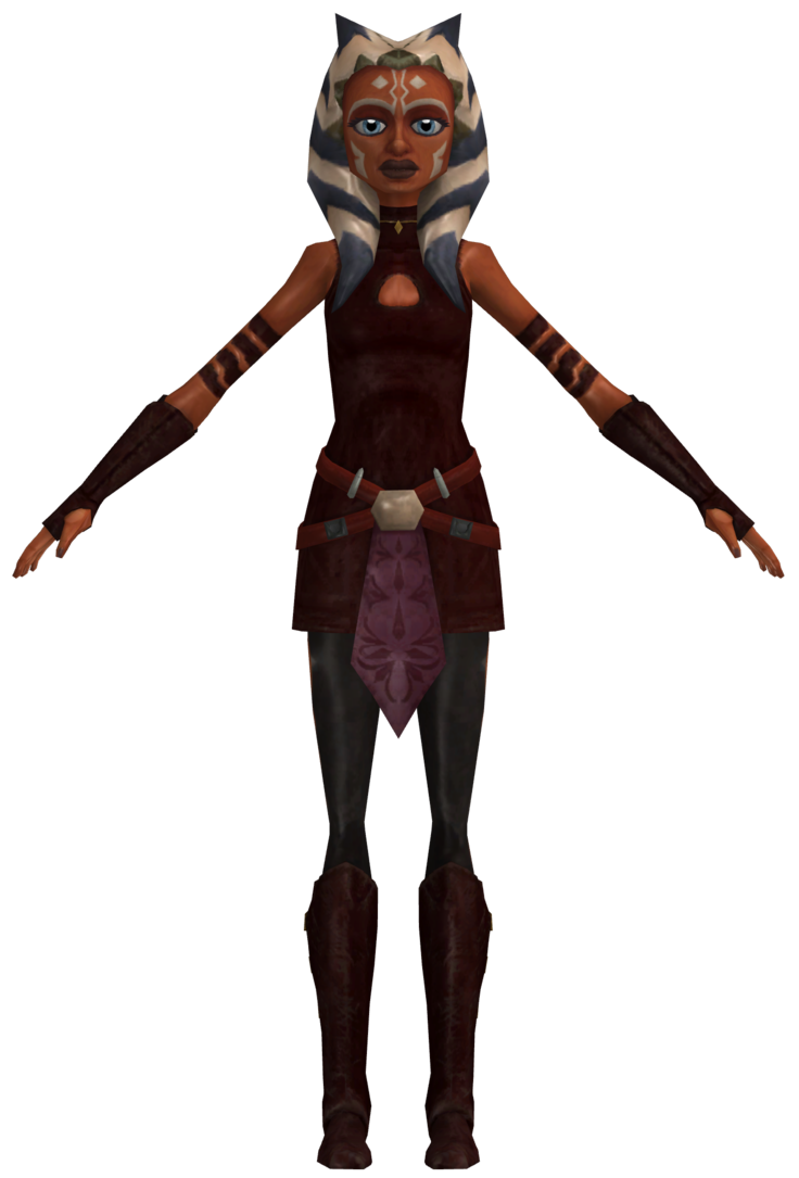 star wars the clone wars adventures ahsoka tano season 3 outfit extracted converted and rigged by me all rights belong to lucasarts and sony online e - Clone Wars Halloween Costumes