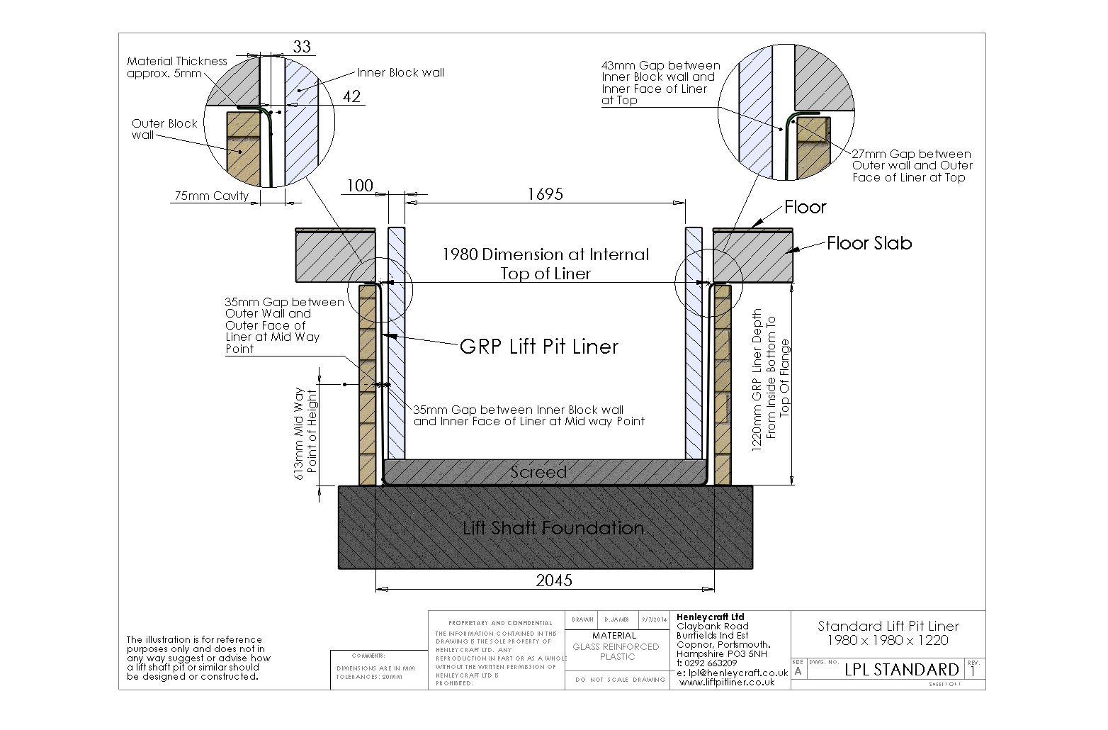 Lift Pit Shaft Liner