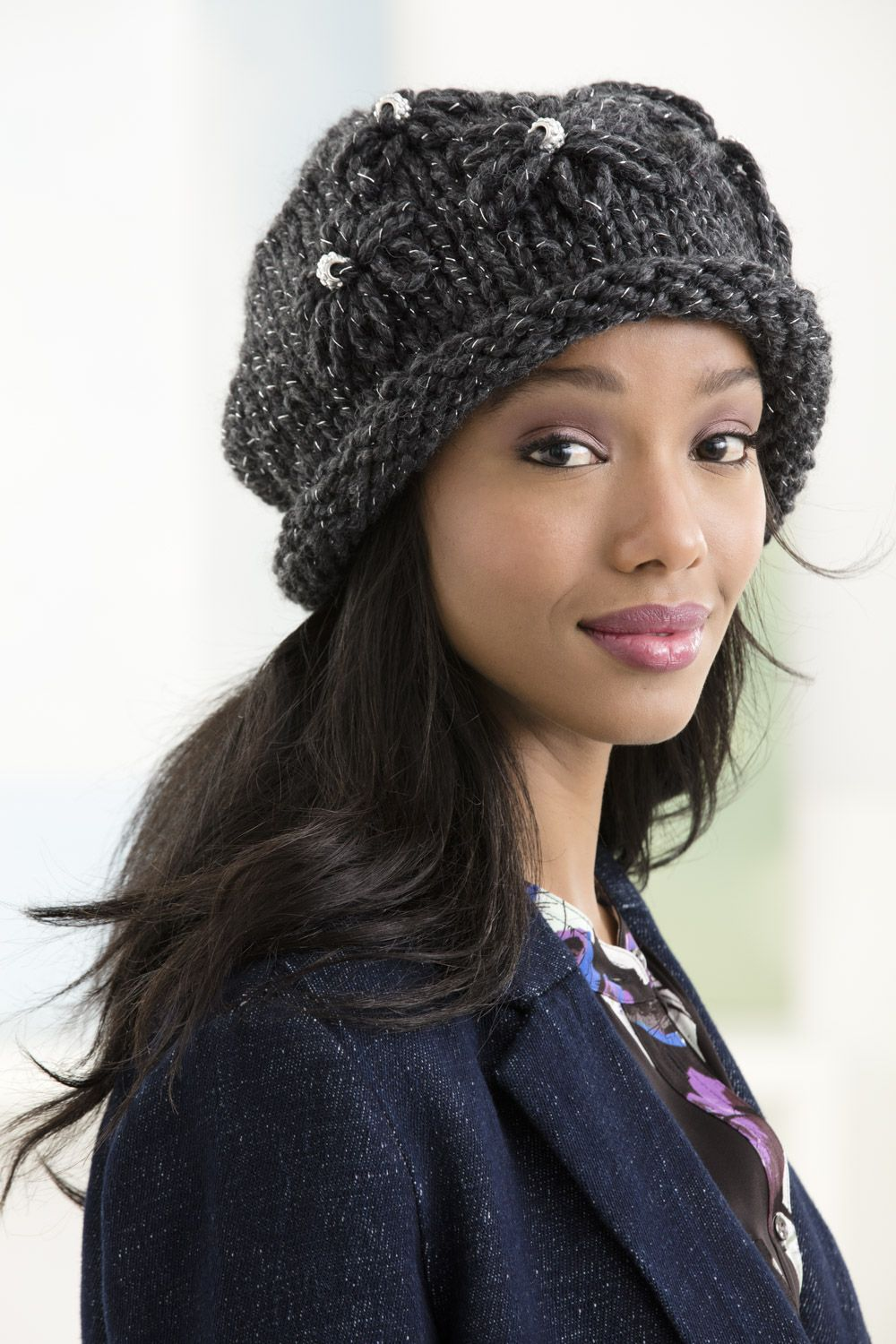 Quick knit hat alert! Use just 1 ball of our Wool-Ease Thick   Quick Yarn  (shown in constellation) and double pointed needles in size 13 to whip up  this ... 9126478bcd0