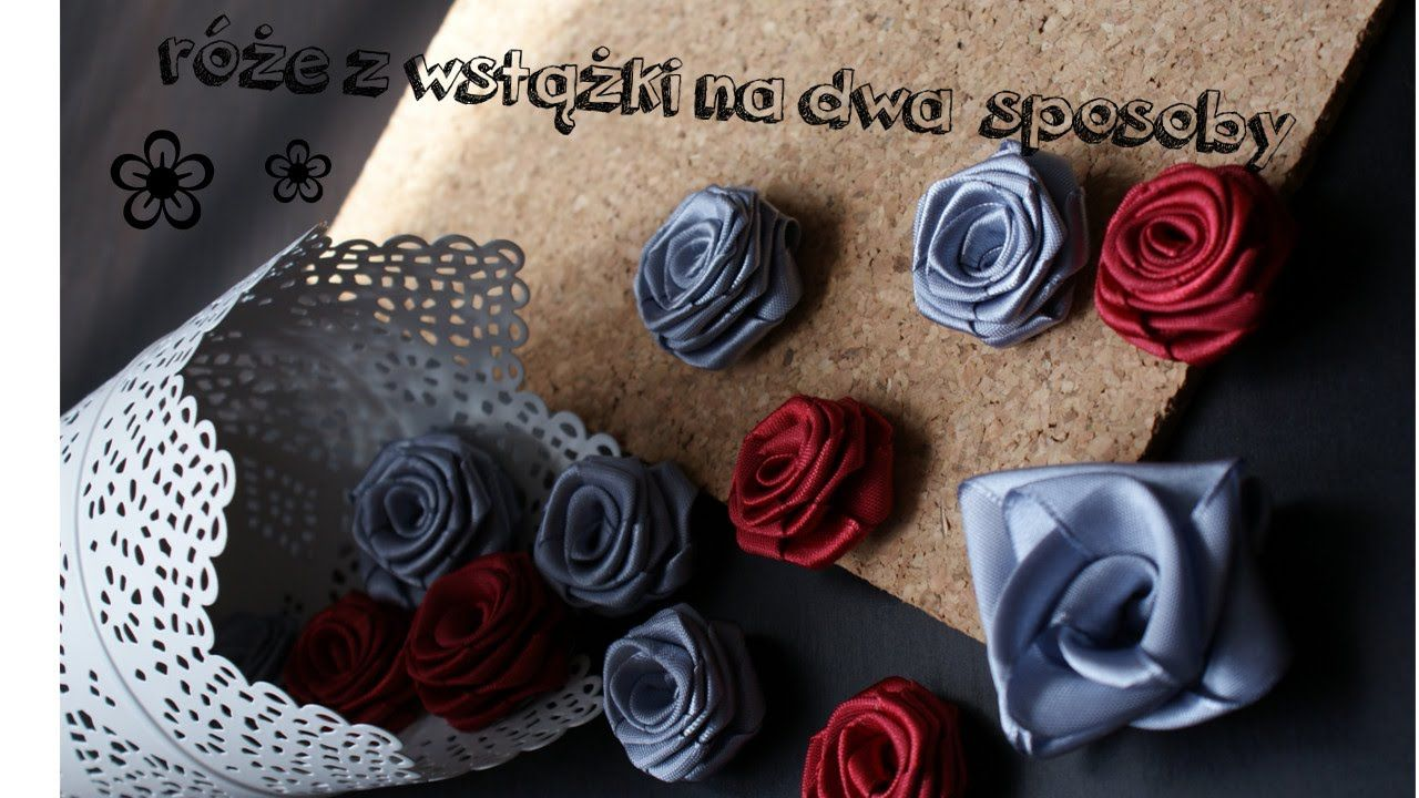 Roze Z Wstazki Na Dwa Sposoby Kanzashi Floral Floral Rings