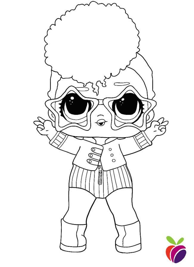 Lol Surprise Sparkle Series Coloring Page Independent Queen Unicorn Coloring Pages Coloring Pages Star Coloring Pages