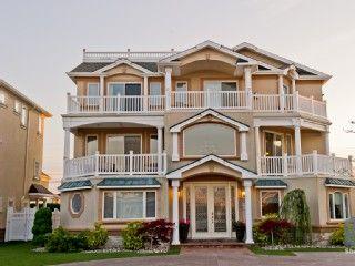 Luxury Beach Mansion 8 Bedrooms 8 Bathrooms Homeaway Brigantine Beach Mansion Mansions Luxury Beach House
