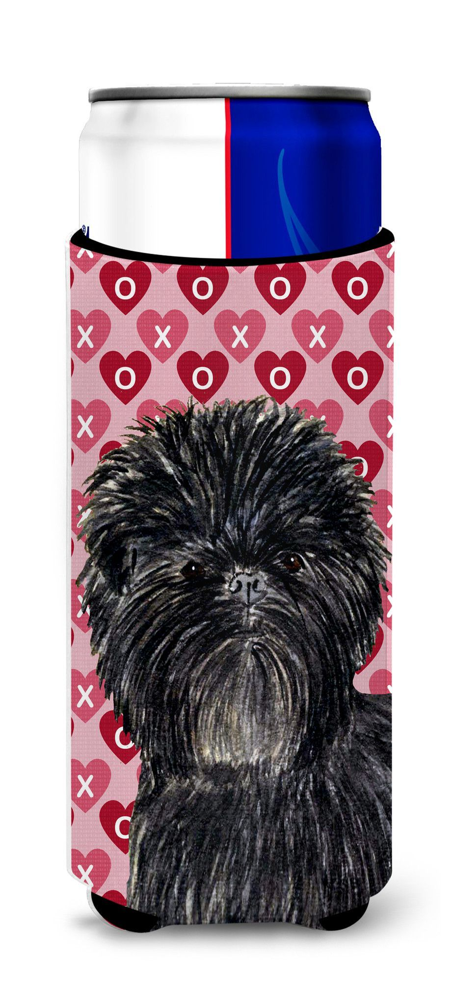 Affenpinscher Hearts Love and Valentine's Day Portrait Ultra Beverage Insulators for slim cans SS4511MUK