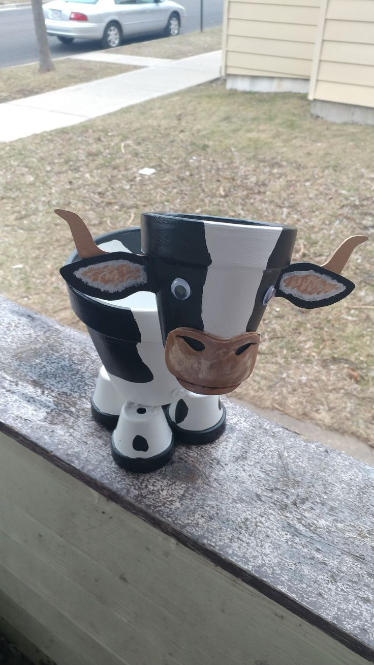 One of my cow farmers – Clay pot projects