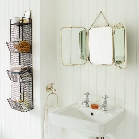 Tri Fold Wall Hung Mirror I Graham And