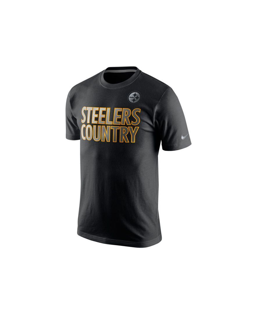500f1d64 Nike Men's Short-Sleeve Pittsburgh Steelers Reflective T-Shirt ...