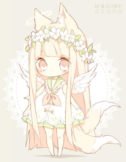 Closed Adoptable Angel Fox Kawaii Anime Kawaii Chibi Chibi