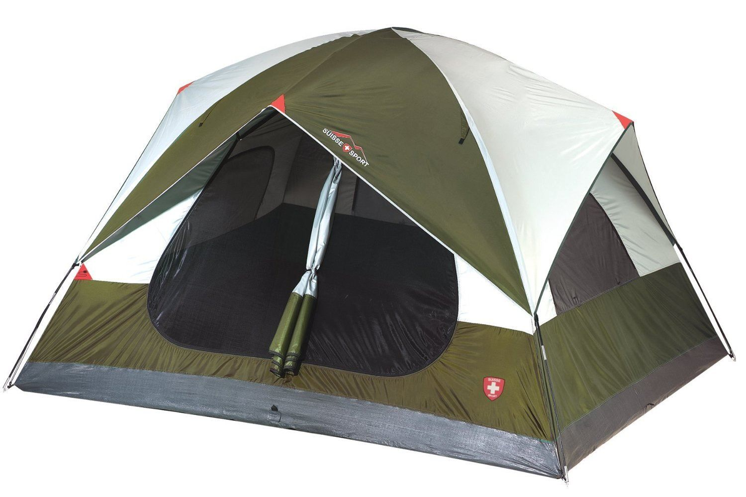 Suisse Sport Mammoth 2 Room Dome 4 Person Tent - Big R ...