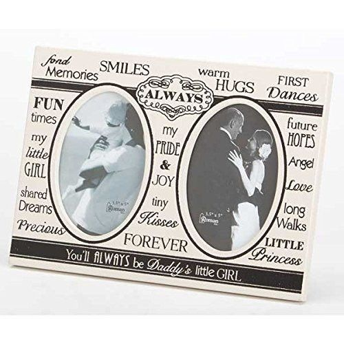 Daddy\'s Little Girl 7 Black and White Typographic 2-Picture Photo ...