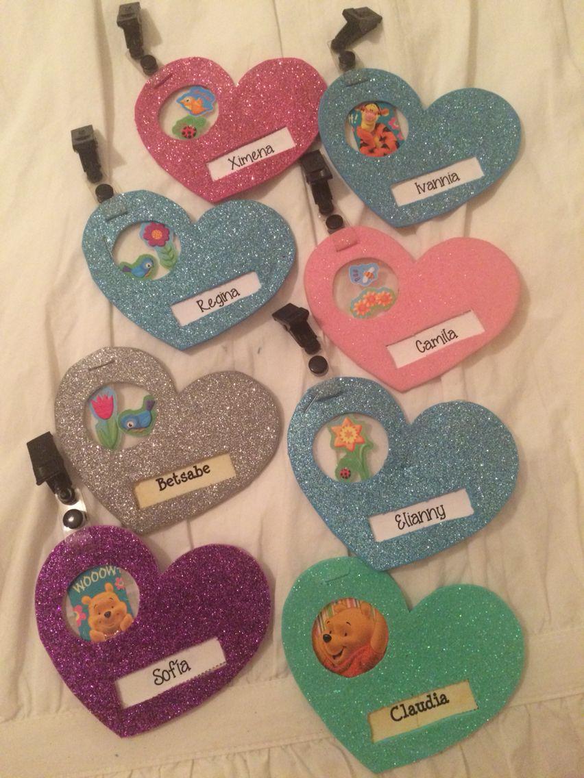 Gaffetes Para Ninas Kinder Primaria O Catecismo Name Tags For Girls Preschool