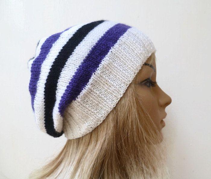 d4e2476e25157 Women Merino Wool Hand Knitted Slouchy Beanie Hat