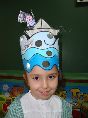 Manualidad  Sombrero Agua y Mar.  80e6416f2a9
