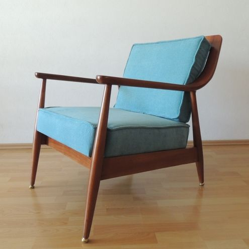 Lounge Chair In Elm Wood By Muebleria La Malinche, Mexican Mid Century  Modern Period.