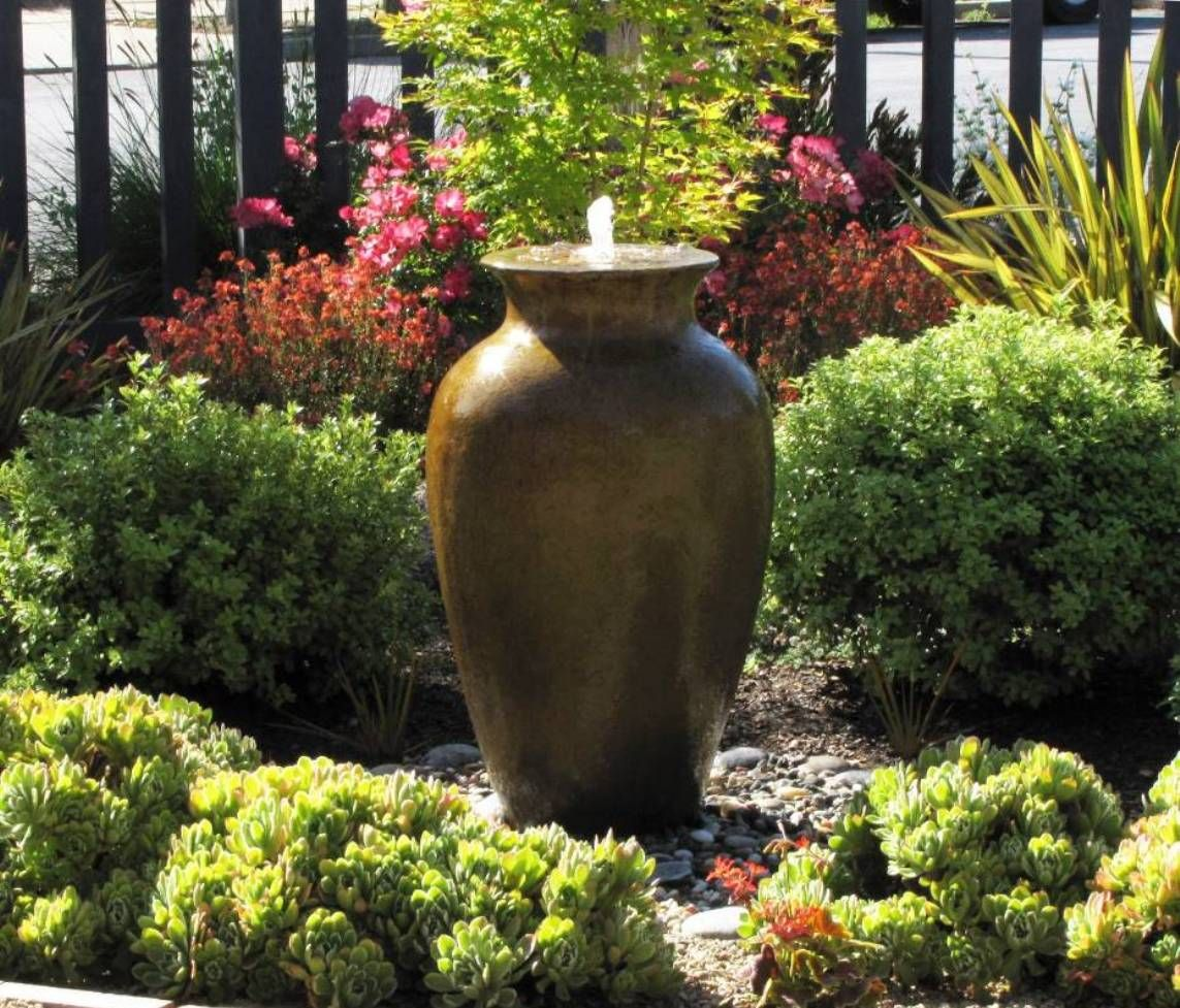 Garden And Lawn Outside Water Feature Small Ideas Vase Fountain