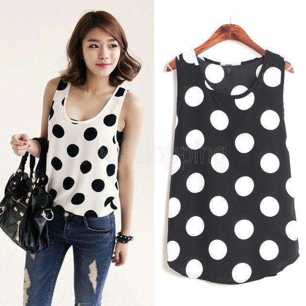 polka dots blouses shirts tops | Gommap Blog