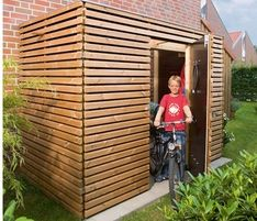fahrradschuppen haus pinterest garten schuppen und gartenhaus. Black Bedroom Furniture Sets. Home Design Ideas