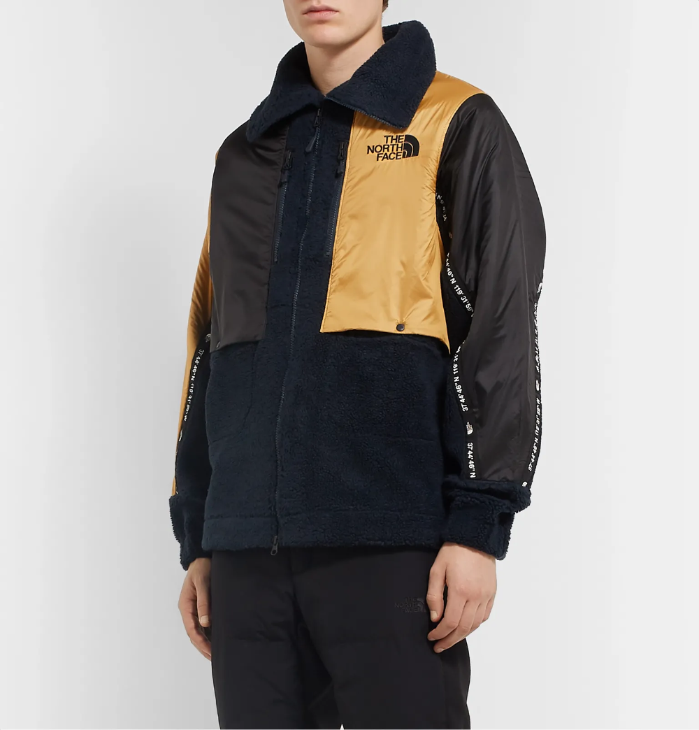 Navy Black Series Shell Trimmed Fleece Jacket The North Face Mr Porter Black North Face The North Face Fleece Jacket [ 1044 x 1000 Pixel ]
