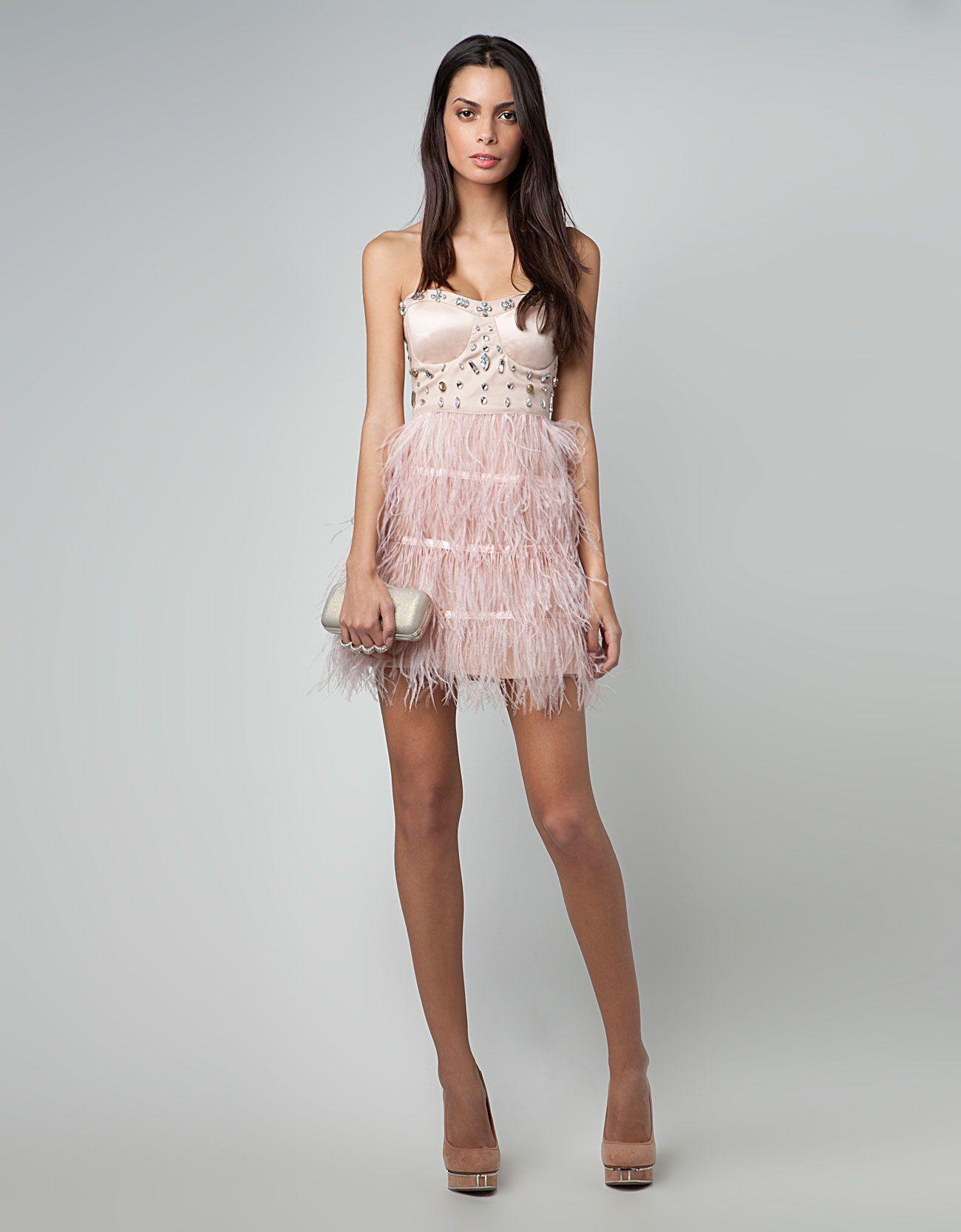 Collezione bershka primavera estate 2016 abbigliamento low cost anni - Bershka M Xico Vestido Bershka Plumas