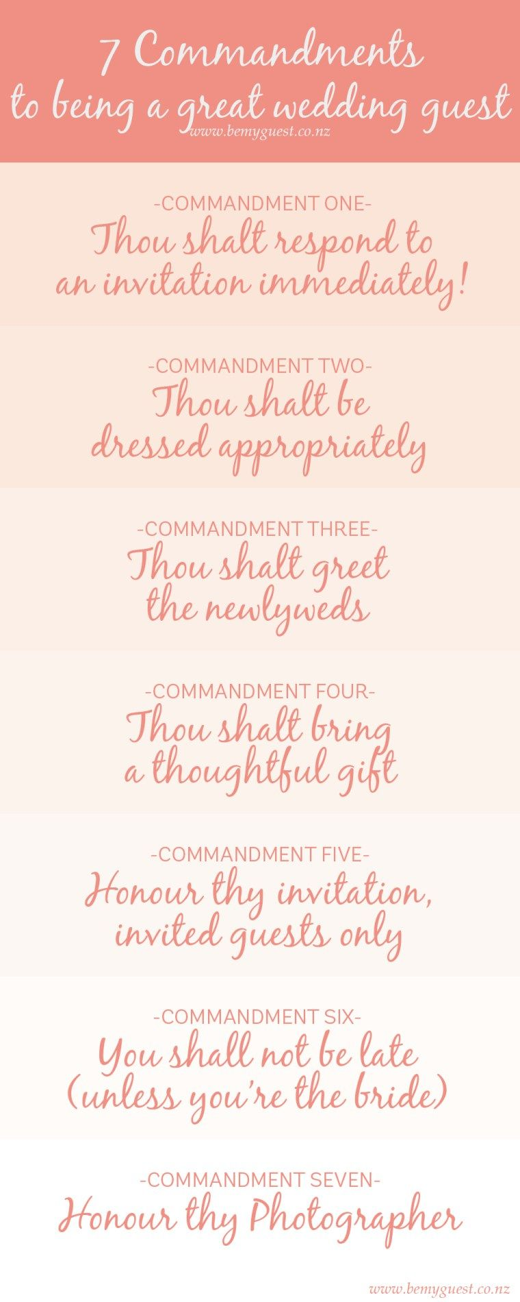 7 Commandments Of Being A Wedding Guest Wedding Etiquette Rules For Guests Southern Bride Wedding Etiquette Wedding Planning Advice Southern Bride
