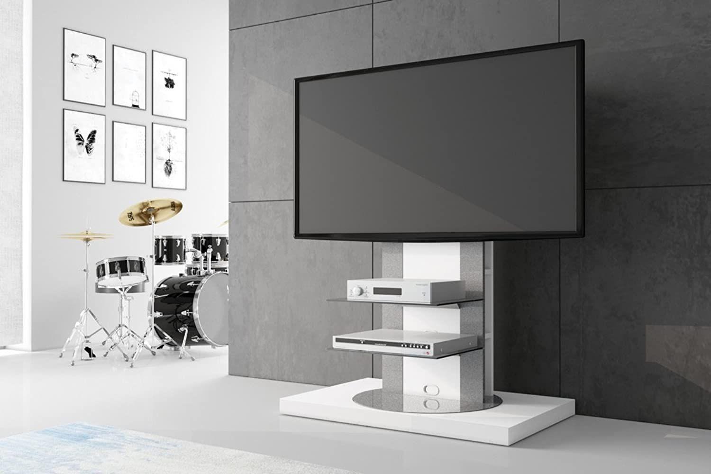 hu fernsehtisch roma h-777nw schwarz oder weiß hochglanz 360
