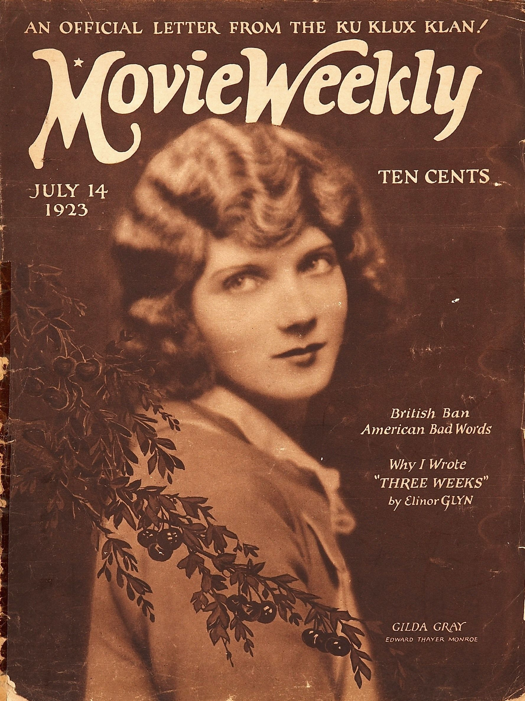 Movie Weekly - 1923 - Portada de Edward Thayer Monroe