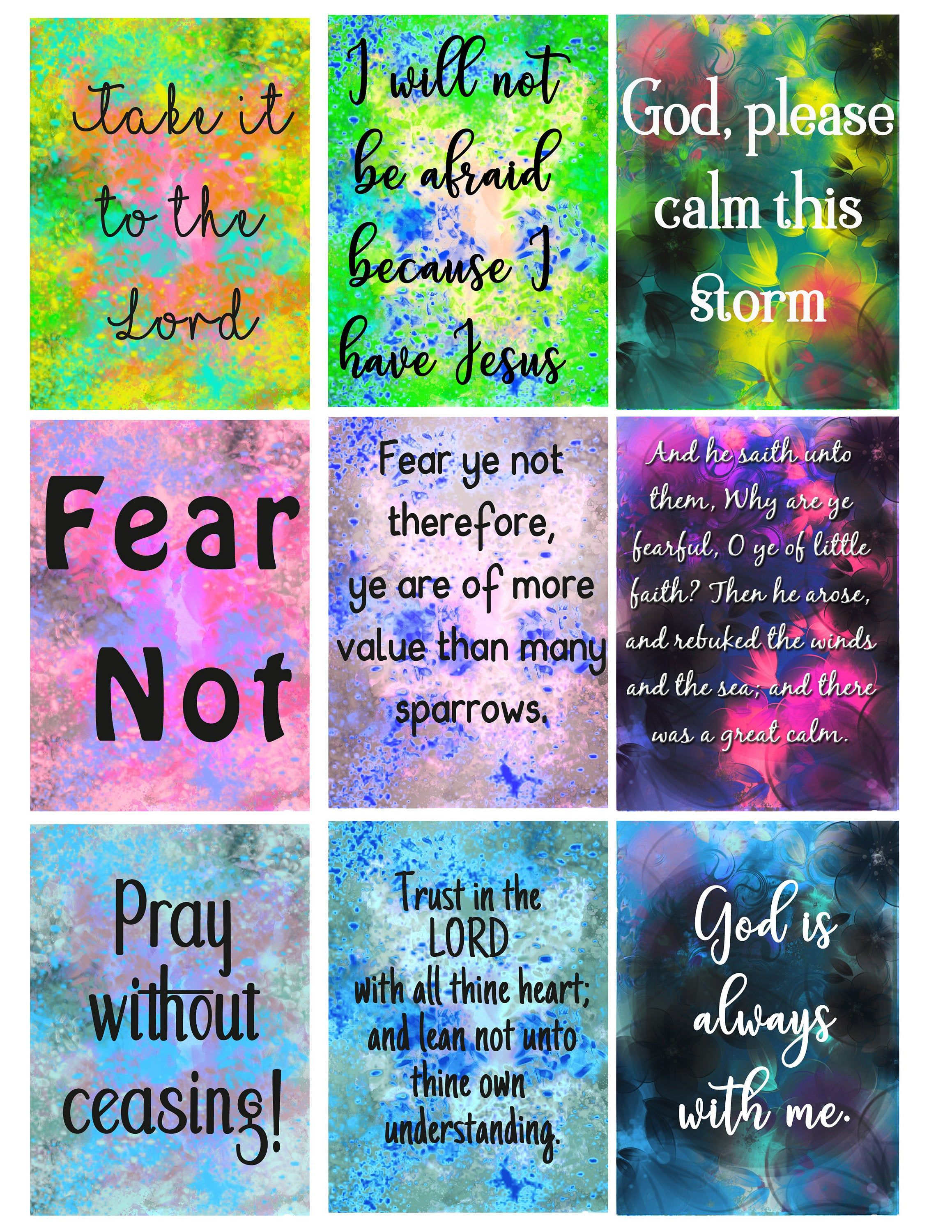 Fear And Faith Affirmation Affirmation Cards God Is With Etsy In 2021 Affirmation Cards Christian Cards Verses For Cards