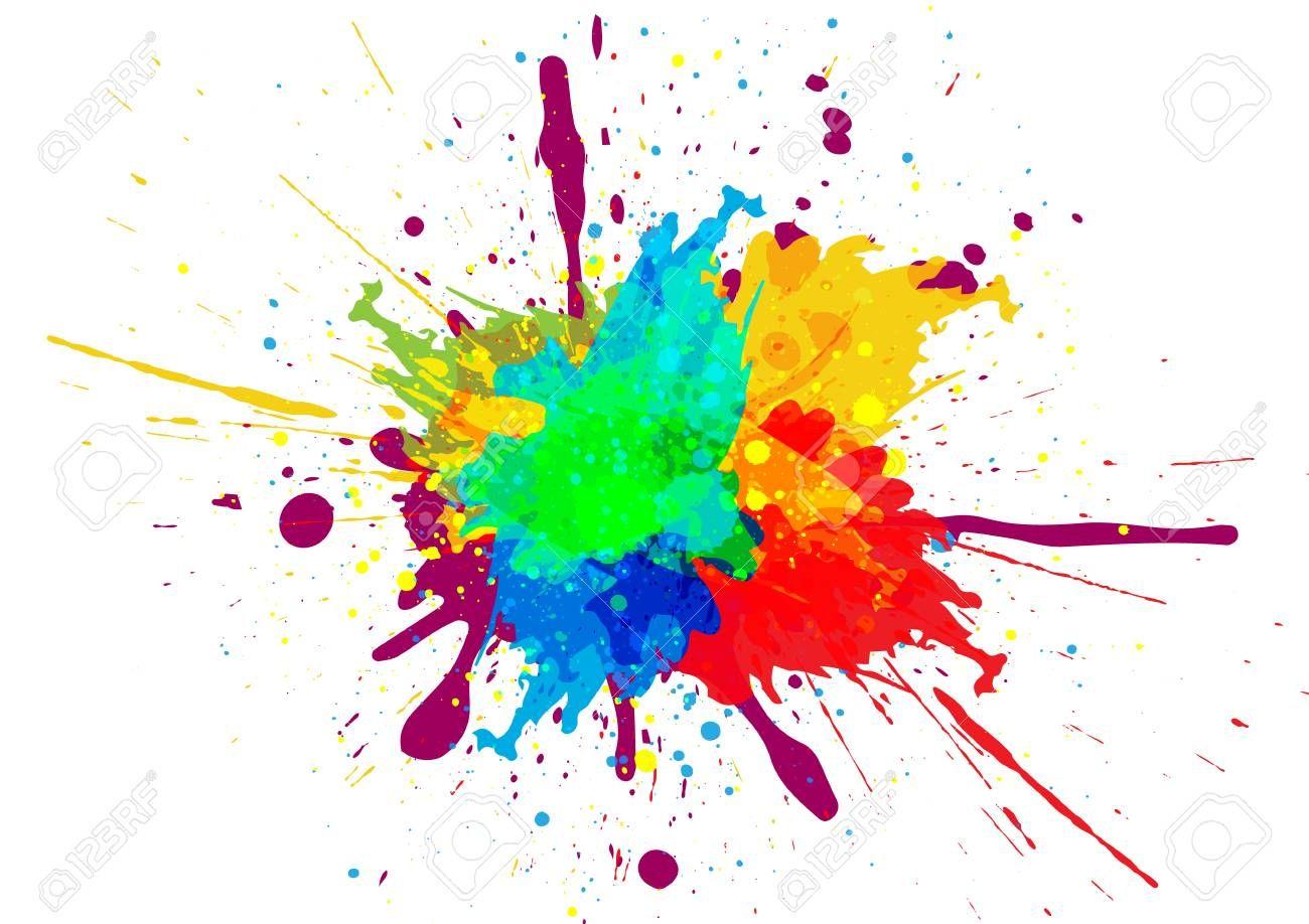 Colorful Paint Splatter Design Paint Splatter Art Splatter Art Painting