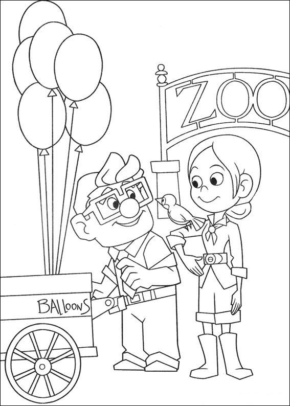 Coloring page Up Up Coloring pages Pinterest Disney colors