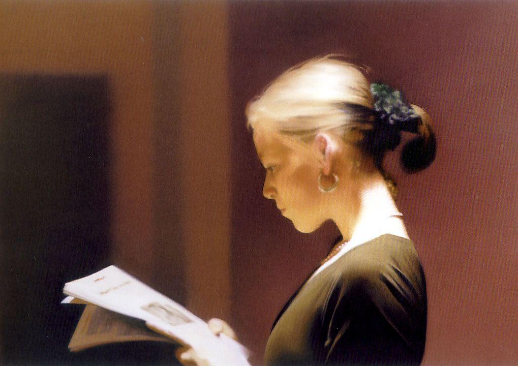 Reading, 1994 - Gerhard Richter - WikiArt.org   Герхард рихтер