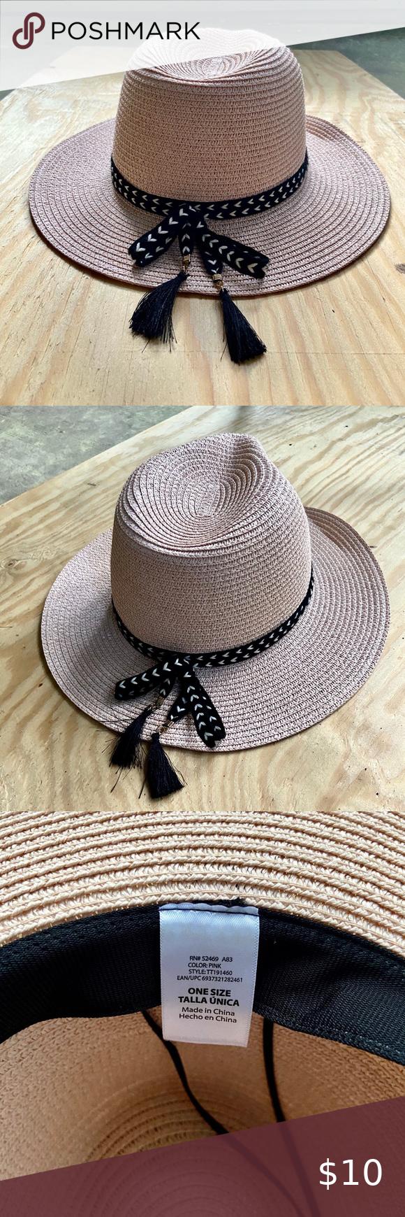 Summer Classic Straw Fedora Sun Hat In 2020 Sun Hats Straw Fedora Floppy Hat Summer