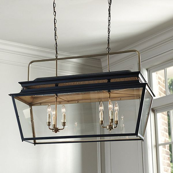 Ballard Designs Piedmont 6 Light Rectangular Lantern 799 Found On Polyvore Featuring Home