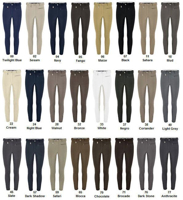 Pikeur knee patch breeches in a rainbow of colors