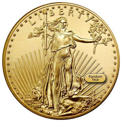 Random Date 1 Oz Gold American Eagle 50 Gem Bu Coin Sku26177 American Eagle Gold Coin Gold Eagle Coins Gold Bullion Coins
