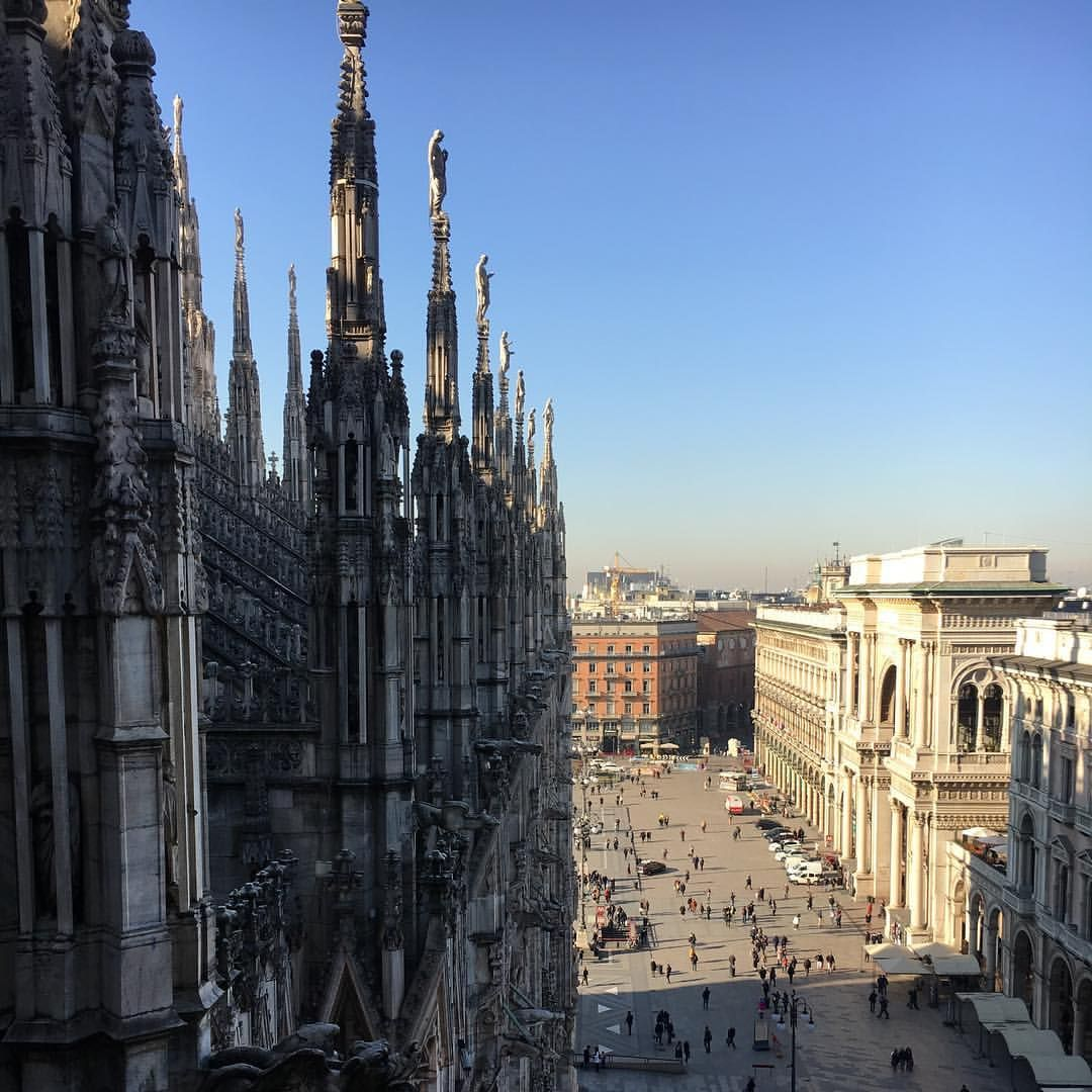 Le terrazze del Duomo - Milano - Duomo di Milano. View from the ...