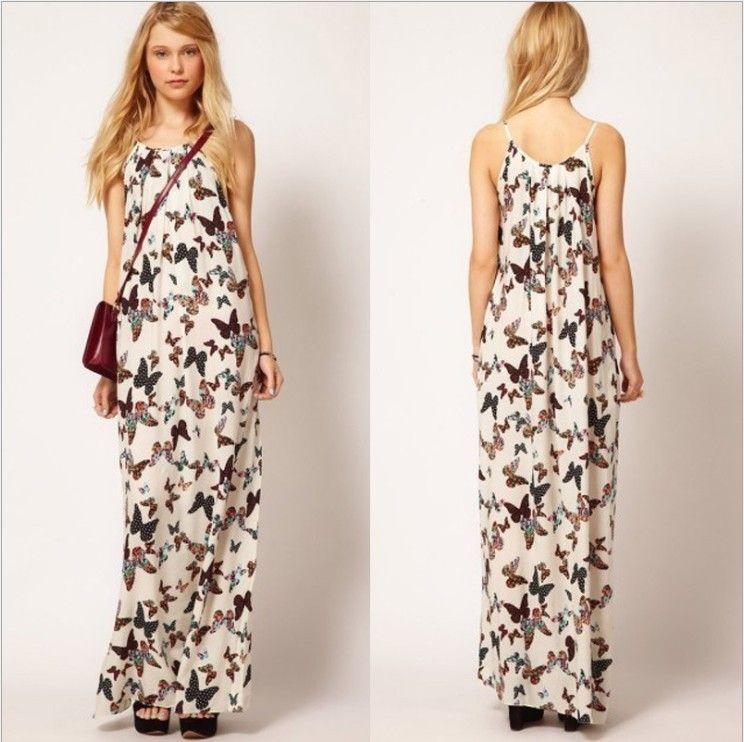 2a4b19b46ec0 vestidos elegantes largos estampados playa elegante estampado ...