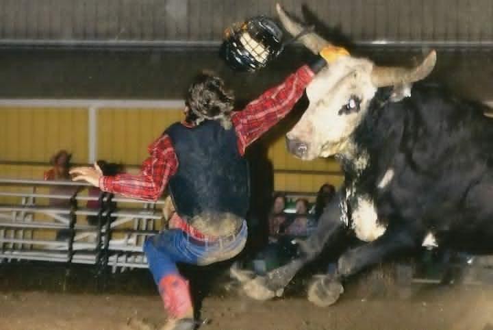 Ryan Dalton Frost Bull Riding Rodeo Wrecks Bull Riding