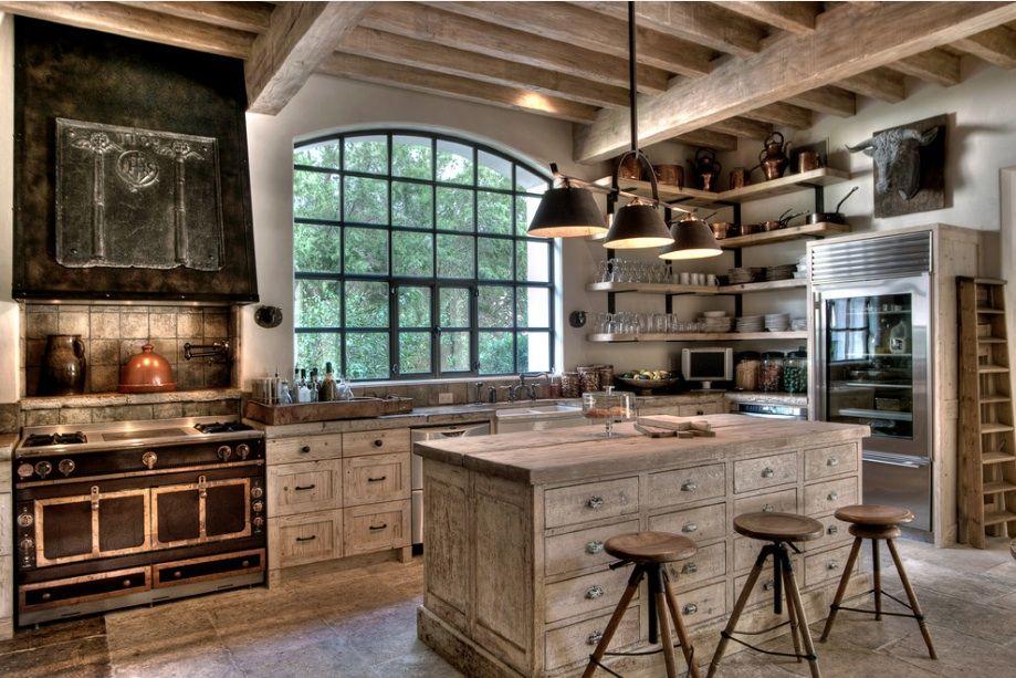 10 Rustic Kitchen Designs That Embody Country Life Freshome Com Mediterranean Kitchen Design European Farmhouse Kitchen Rustic Farmhouse Kitchen