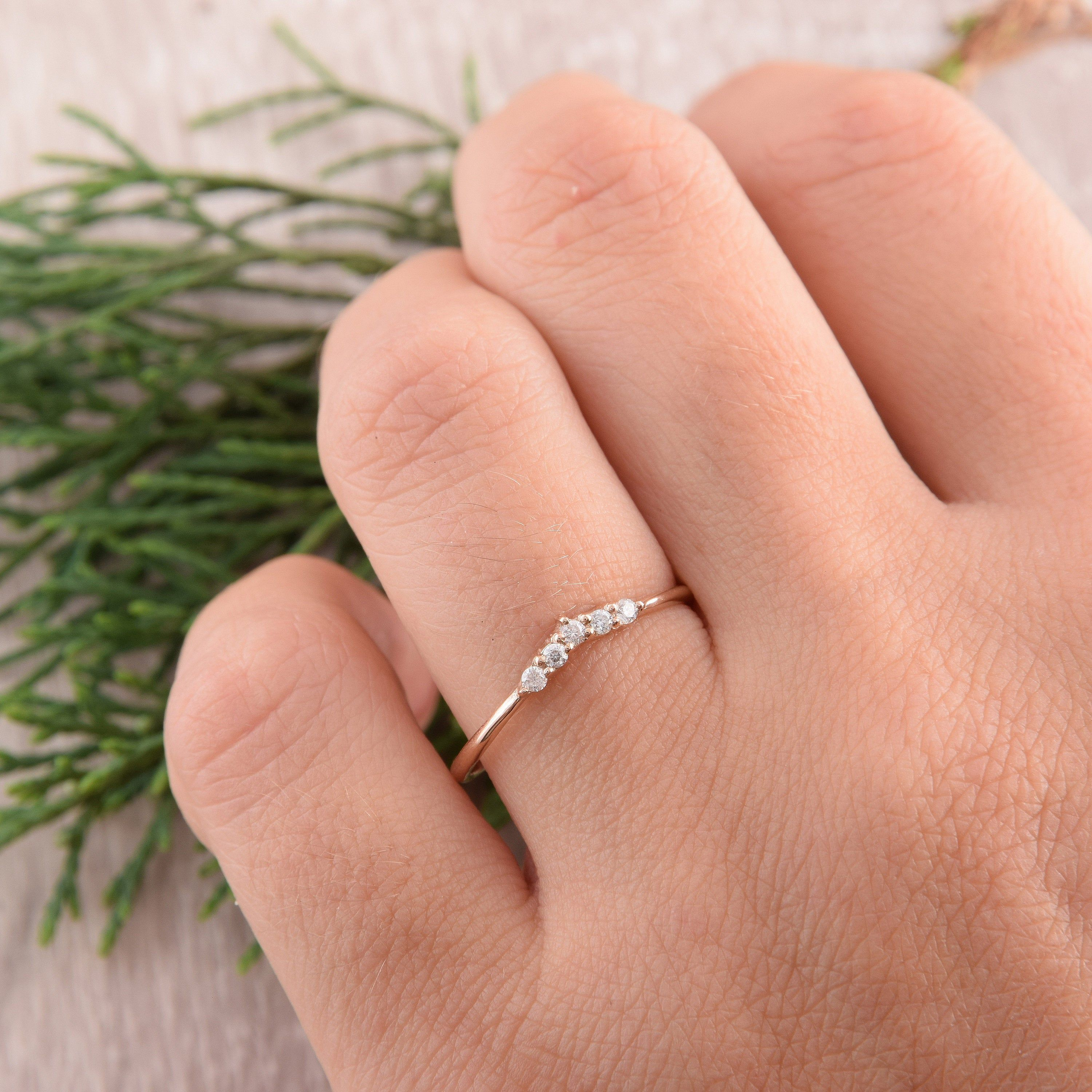 Curved Wedding Band Diamond Wedding Band Small Diamond Ring Etsy Diamond Wedding Bands Curved Wedding Band Small Diamond Rings
