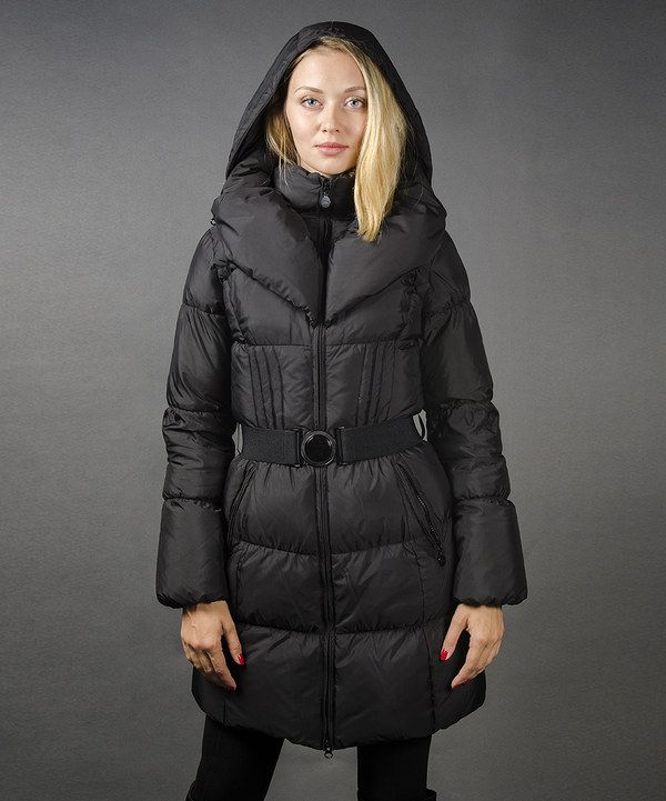 10f280e7294 Loving this SNOWIMAGE Black Puffer Down Coat - Women on  zulily!   zulilyfinds