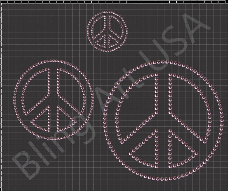 Rhinestone Peace Sign Templates Pattern Art Stencil Peace Unity Love Easy Free Color Rhinestone Designs Pattern Stencil Template Pattern Art